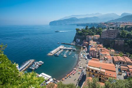 sorrento: Panoramic view of Sorrento, the Amalfi Coast, Italy Stock Photo