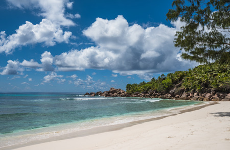 Anse Coco tropical beach, La Digue island, Seychelles