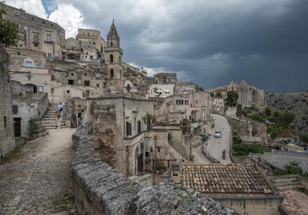 sassi: Ancient town of Matera (Sassi di Matera), Basilicata, Italy