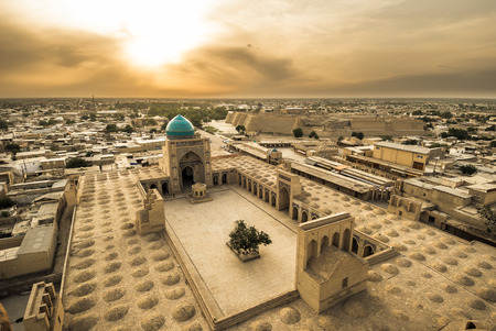 Panorama of Bukhara, Uzbekistan Banque d'images