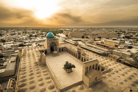 Panorama of Bukhara, Uzbekistan Stockfoto