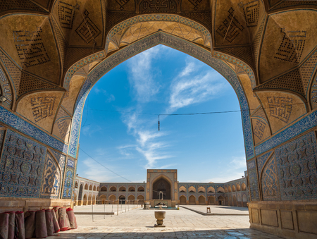 iran: Jameh or Friday Mosque of Isfahan, Iran Stock Photo