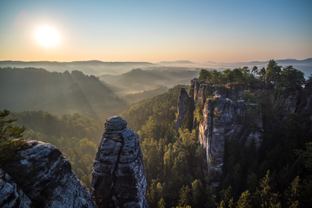 saxon: Bastei rock formations, Saxon Switzerland National Park, Germany
