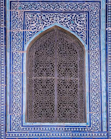 Betegelde achtergrond met oosterse versieringen Stockfoto