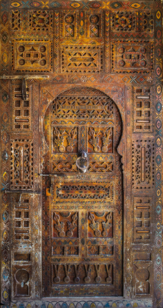 wood surface: Ancient doors, Morocco