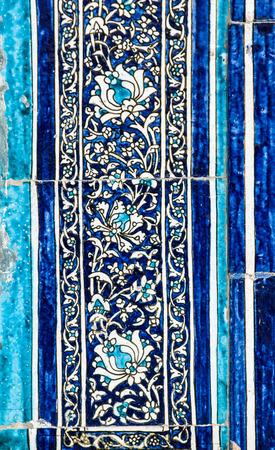 ceramica: Fondo embaldosado con los ornamentos orientales