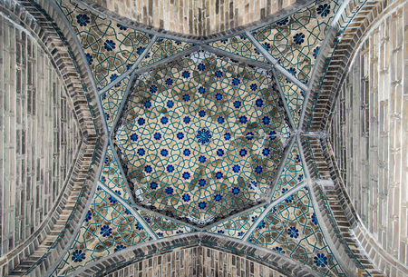 dome: Dome of the mosque, oriental ornaments from Bukhara, Uzbekistan