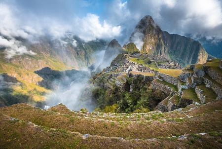 unesco world heritage site: Machu Picchu, UNESCO World Heritage Site. One of the New Seven Wonders of the World. Stock Photo