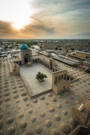 uzbekistan: Panorama of Bukhara, Uzbekistan Stock Photo