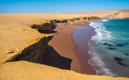 peru: Red Beach in Paracas Natural Reserve, Peru