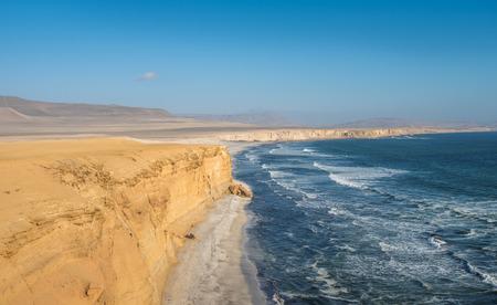 sea cliff: Paracas Natural Reserve, Peru Stock Photo