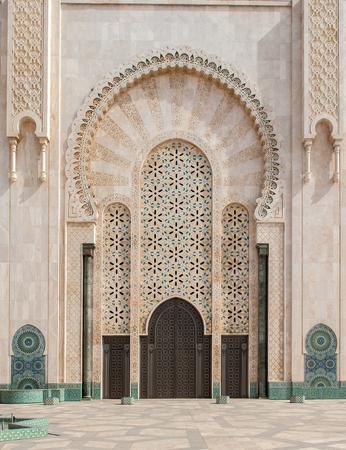 architectural details: Architectural details of Hassan II Mosque, Casablanca. Morocco