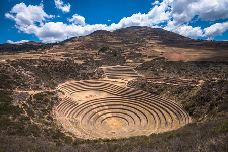 cusco: Moray, an archaeological site near Cusco, Peru