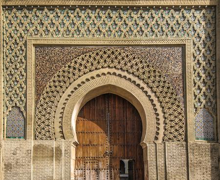 portones: Puertas antiguas en Meknes, Marruecos Foto de archivo