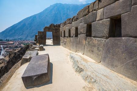 Ollantaytambo ruins in the sacred valley, Peru