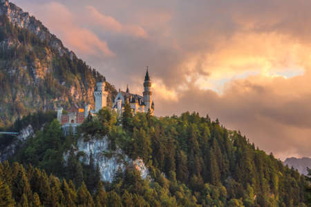 Neuschwanstein castle, Bavaria, Germany Editorial