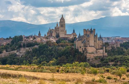 acueducto: View of Segovia, Castilla y Leon, Spain Stock Photo