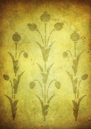 grunge floral: grunge floral background with space for text or image Stock Photo