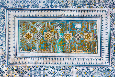 tiled: Tiled background with oriental ornaments Stock Photo