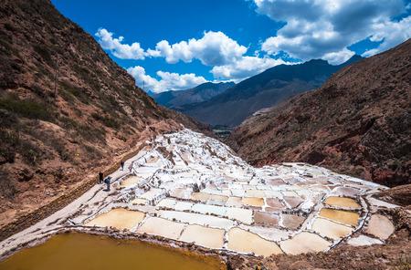 cusco: Salinas de Maras, man-made salt mines near Cusco, Peru