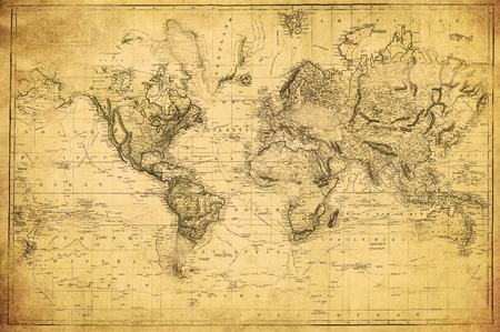 archiwalne mapa świata 1831