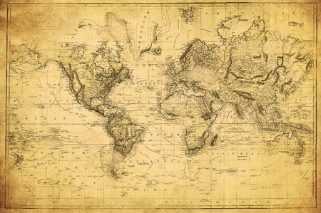 africa antique: vintage map of the world 1831