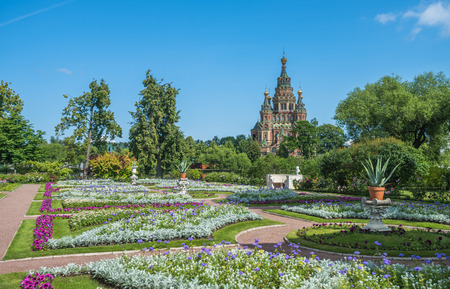 saints peter and paul: Cathedral of Saints Peter and Paul in Petergof, Saint Petersburg, Russia