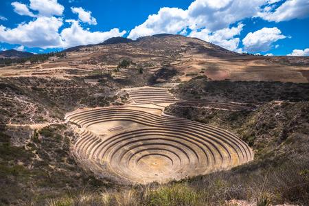 crop circle: Moray, an archaeological site near Cusco, Peru