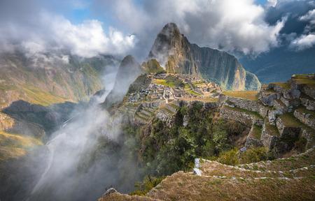 machu picchu: Machu Picchu, UNESCO World Heritage Site. One of the New Seven Wonders of the World. Stock Photo