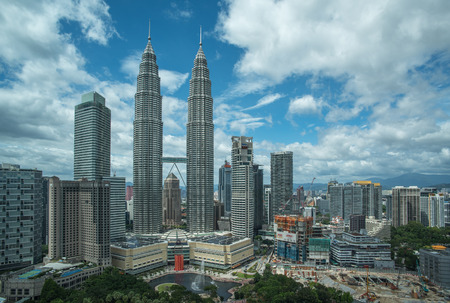 notable: Petronas Twin Towers in Kuala Lumpur, Malaysia Editorial