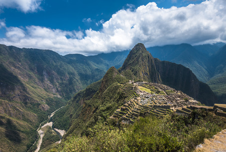 world heritage site: Machu Picchu, UNESCO World Heritage Site. One of the New Seven Wonders of the World. Stock Photo