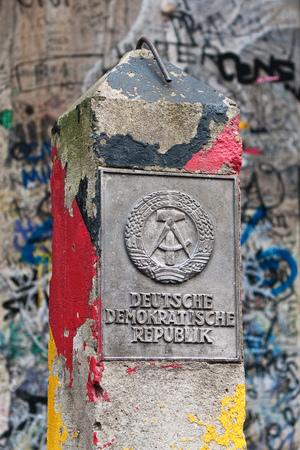 ddr: DDR border marker, East Berlin, Germany