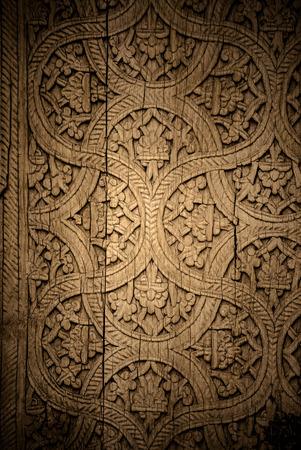Close-up Bild der alten Türen mit orientalischen Ornamenten aus Usbekistan Standard-Bild - 53917156