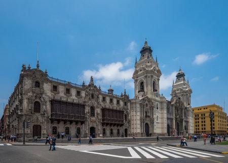 capital: Archbishop's palace of Lima, the capital of Peru