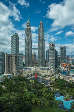 tallest bridge: Petronas Twin Towers in Kuala Lumpur, Malaysia Editorial