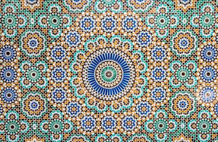 Marokkaanse tegel achtergrond