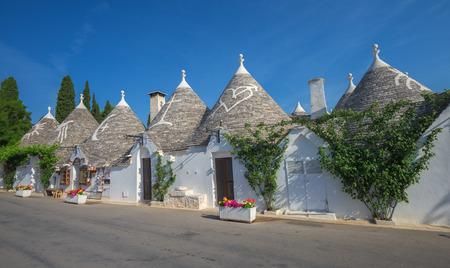 maisons trulli traditionnelles, Alberobello, Pouilles, Italie du Sud