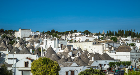 Traditional trulli houses, Alberobello, Puglia, Southern Italy Stock Photo