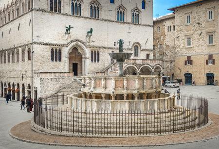 priori: Fontana Maggiore on Piazza IV Novembre in Perugia, Umbria, Italy