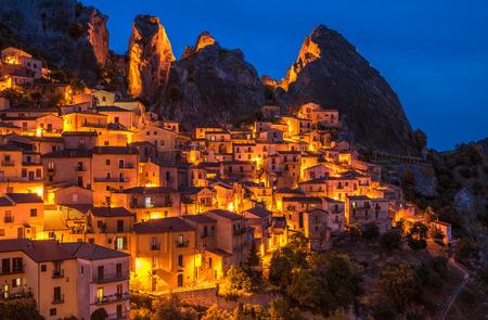 lucania: Castelmezzano in Basilicata, one of the most beautiful village in Italy