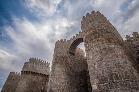 castile: Walls of Avila, Spanish town in Castile and Leon