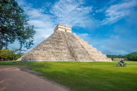 kukulkan: El Castillo or Temple of Kukulkan pyramid, Chichen Itza, Yucatan, Mexico Stock Photo