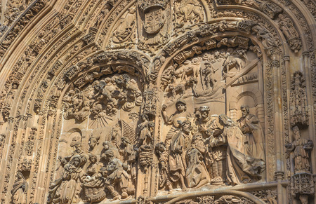 architectural exteriors: Architectural details of New cathedral in Salamanca, Spain