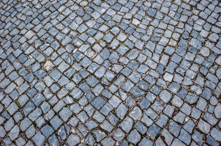 cobblestone street: cobblestone pavement