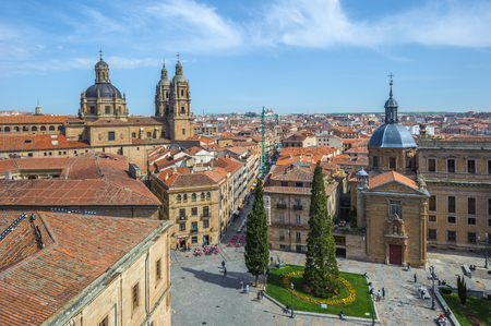 panoramic view: Panoramic view of Salamanka, Spain Stock Photo
