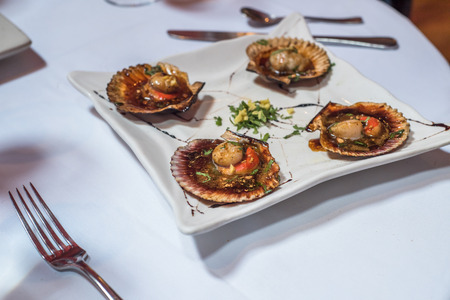 baked: Baked scallops