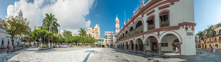 Zocalo or Plaza de Armas, the main square of Veracruz, Mexico