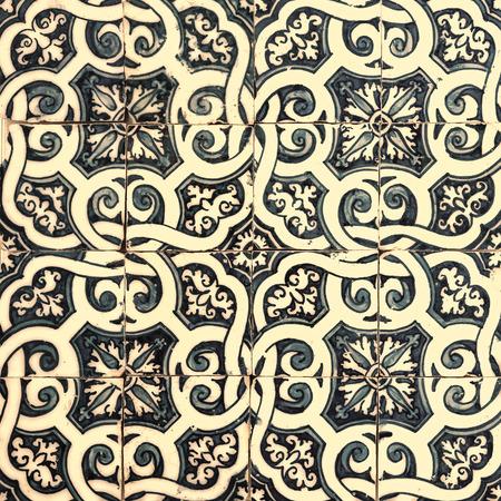 vintage design: Azulejos, traditional Portuguese tiles Stock Photo