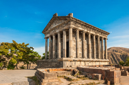 The Hellenic temple of Garni in Armenia Stock Photo