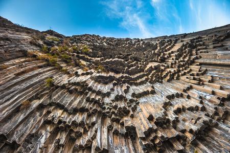 basalt: Symphony of Stones basalt columns, Garni gorge, Armenia